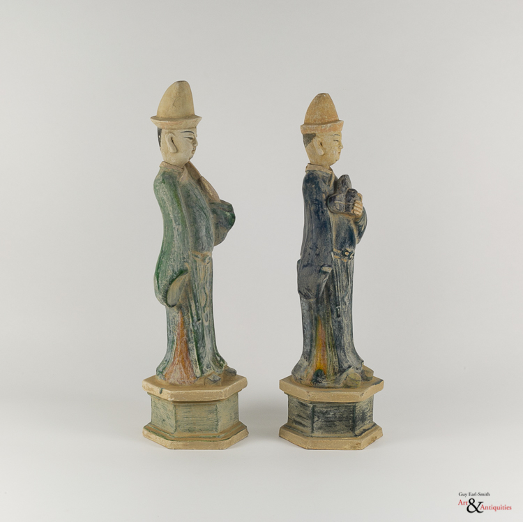 Two Glazed Ming Dynasty Pottery Sculptures, c. 1368-1644,