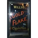 Antique Advertising Mirror Willss Gold Flake Cigarettes